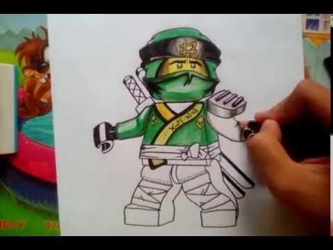 How to draw Lloyd from Lego Ninjago