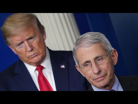 Donald Trump clashes with his top Covid-19 adviser Dr Anthony Fauci