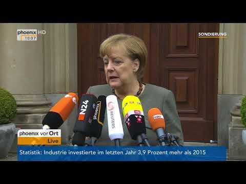Statement von Angela Merkel zum Stand der Sondierung am 16.11.17