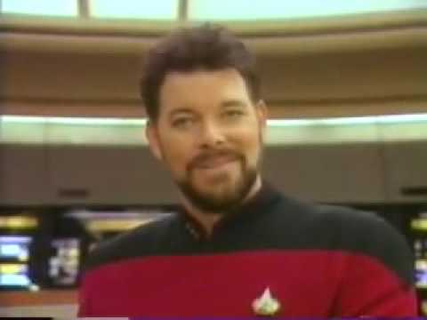 Commander Riker's Trying To Sell.....Some Type Of Crap...
