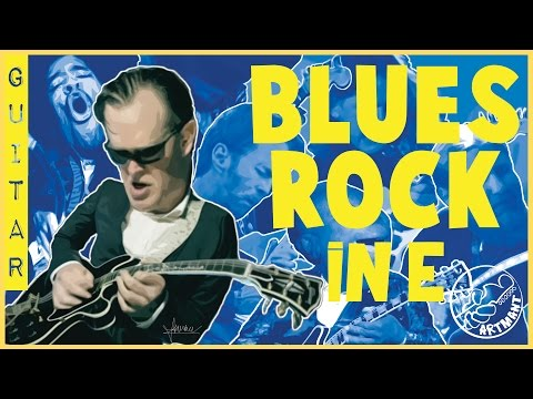 Blues Rock Backing Track in E for GUITAR
