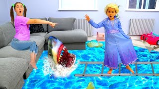 Shark in water story - The Floor is Lava by Ruby and Bonnie