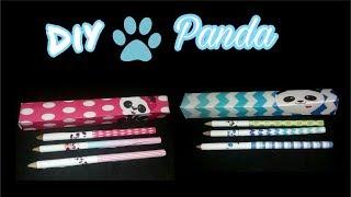 Diy - Caixa e Rótulos para Lápis Panda