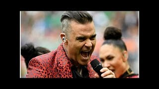 Robbie Williams launches the World Cup with erotic gestures|| NEWS US TODAY
