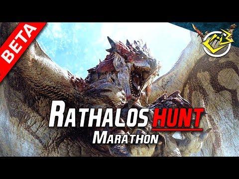 Monster Hunter World BETA LiveStream - Rathalos & Diablos Hunt !!!