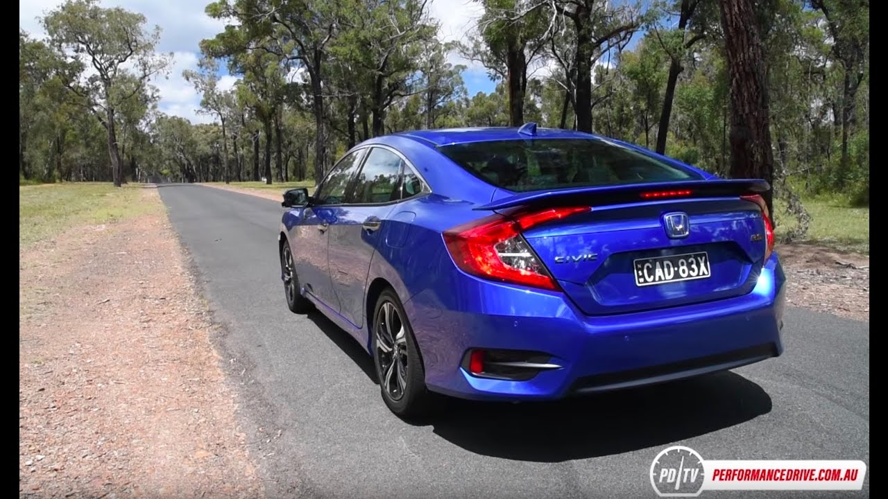 2016 Honda Civic RS turbo 0-100km/h & engine sound - YouTube
