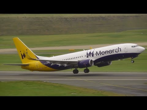 Monarch Airlines Boeing 737-800 FINAL TAKEOFF from Birmingham Airport!