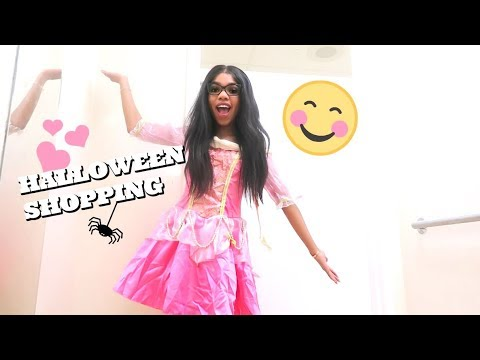 Trying on Halloween costumes!!