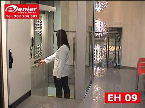 Ascensor unifamiliar enier modelo eh 09 youtube - Ascensores hidraulicos precio ...