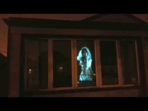 Halloween window display projection test - AtmosFearFX Ghostly Apparitions