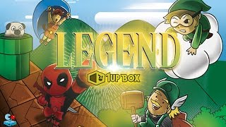 1Up Box January Theme: Legend! Marvel Deadpool Dorbz and Super Mario + Exclusive T-Shirt and More!