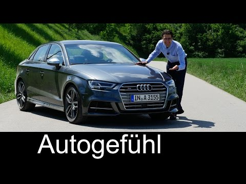 New Audi S3 sedan 310 hp FULL REVIEW test driven Audi A3 family Facelift 2017/2016