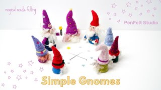 Simple Felted Gnomes | Easy Crafting Bliss