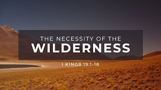 The Necessity of The Wilderness