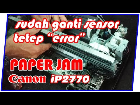 Printer Canon iP 2870 lampu berkedip 3 kali bergantian    Error Blinking 3X, Cara memperbaikinya....