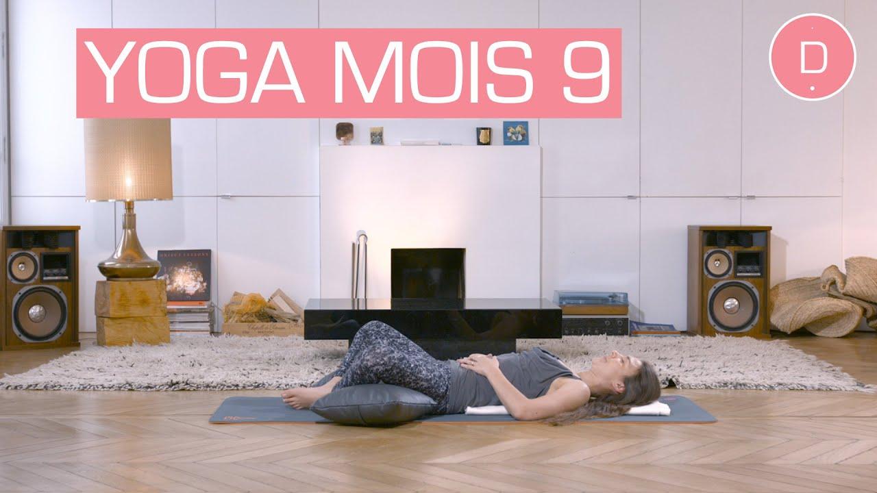 Populaire Yoga prénatal - 9ème mois de grossesse - YouTube WF77