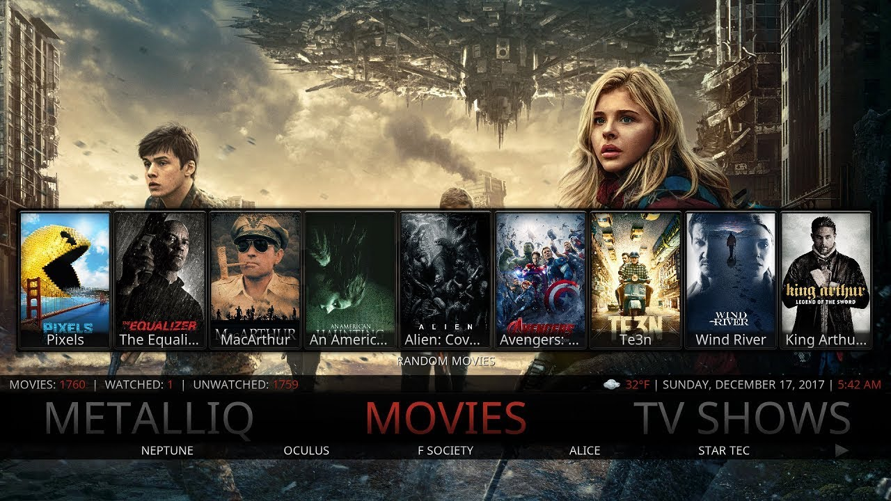 Download THE BEST KODI 17.6 BUILD FOR DECEMBER 2017 ON YOUR KODI DEVICE