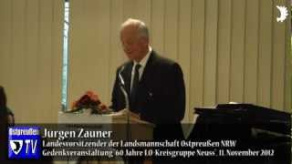 Zauner dankt Neusser Ostpreußen für 60 Jahre kulturelle und heimatpolitische Arbeit