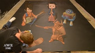 3D Chalk Art – Kubo and the Two Strings