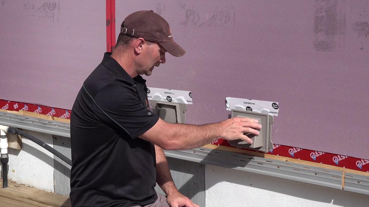 How To Install Vinyl Siding Accessory Mounting Blocks