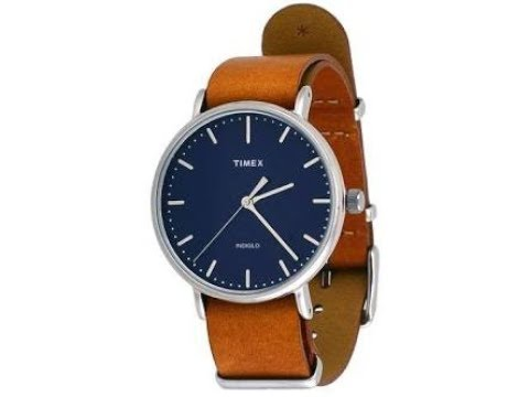 0d36f07e443d Timex TW2P97800 Weekender Indiglo Fairfield Full-Size Brown Leather Band  Watch