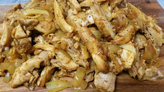chicken shawarma recipe with onion שווארמת פרגיות ביתית עם בצל מתכון כתוב למטה. .