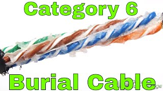 Gel Filled CAT6 Outdoor Direct Burial Wire and Cable