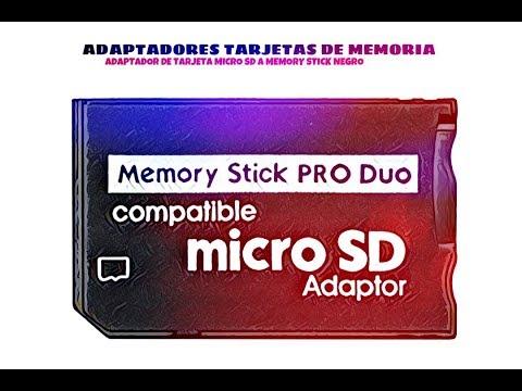 Video de Adaptador de tarjeta micro SD a Memory Stick  Negro