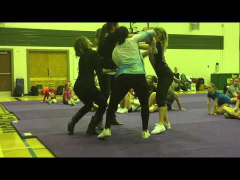Walkover Straddle Teddy Bear Lift Level 1 Stunt Camp