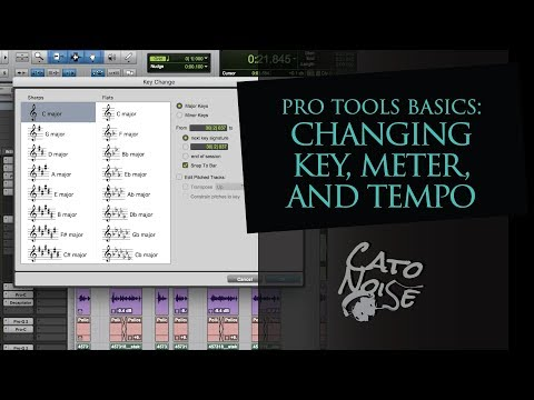 Pro Tools Basics: How to Change the Key, Meter, Tempo