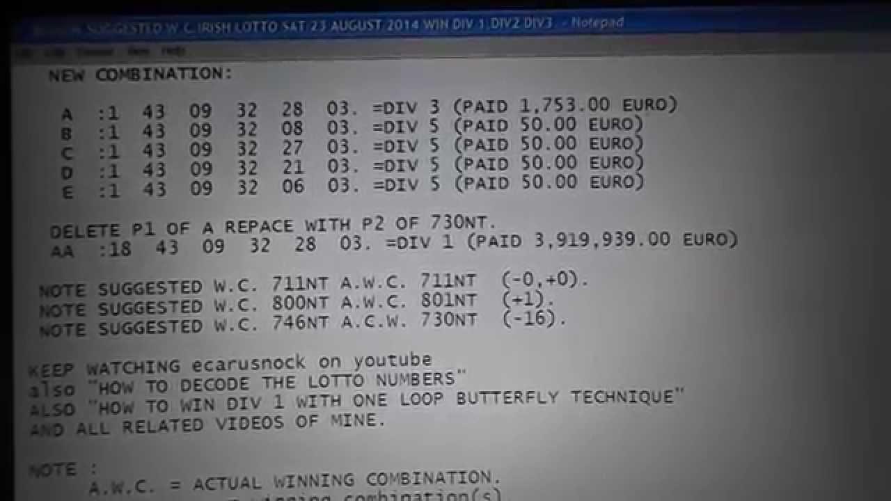 Lotto Winning Combinations