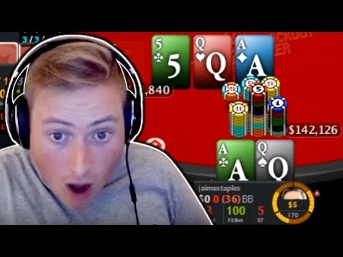 CAN WE HOLD TOP 2 PAIR FOR A 350,000 CHIP POT?? PokerStaples Stream Highlights