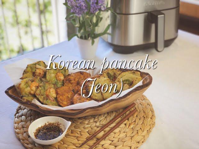 Air fryer recipe ideas: Korean pancake trio (Pajeon, Kimchi Jeon, Gamja Jeon)