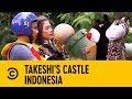 Chris Hughes on Animal Mascot Decapitation | Takeshi's Castle Indonesia
