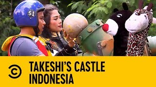 Chris Hughes on Animal Mascot Decapitation | Takeshi's Castle Indonesia