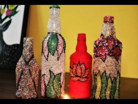Recycle wine bottles -DIY