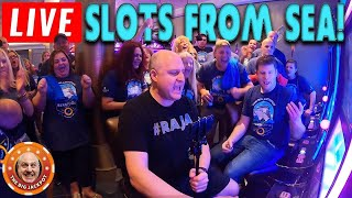 LIVE Slots from the Middle of the Pacific! 🌊HUGE Jackpots at Sea! | The Big Jackpot