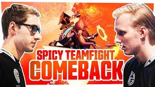 Bjergsen - SPICY TEAMFIGHT COMEBACK!!