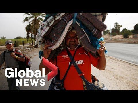 Caravan migrants move from Mexicali to Tijuana
