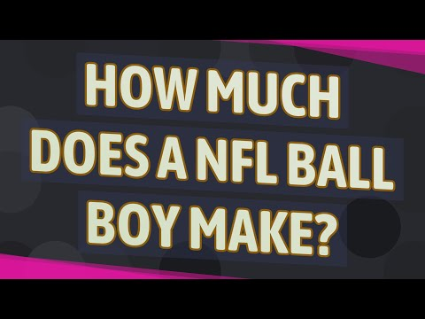 How Much Does A NFL Ball Boy Make?