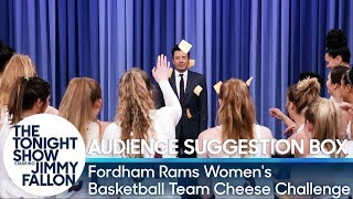 Audience Suggestion Box: Jimmy Gets Cheesed by the Fordham Rams Women's Basketball Team