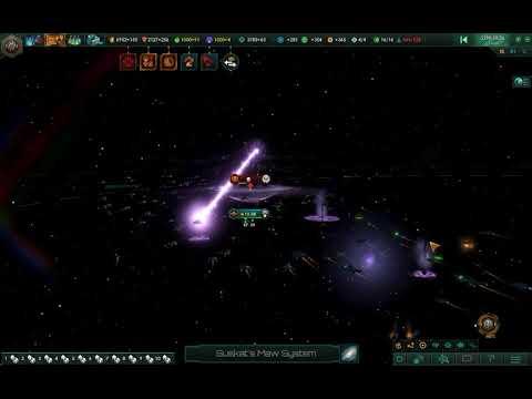 The swarm of Star Wars ships vs Dimensional Horror - Stellaris |