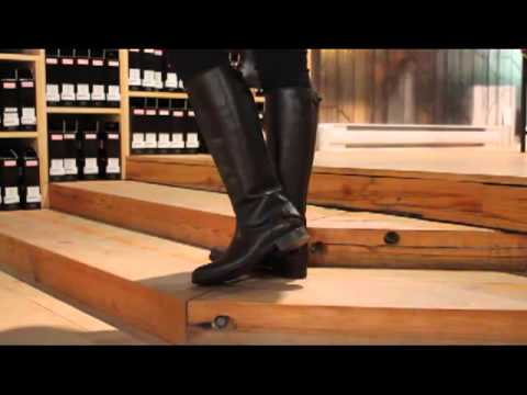 49ffaab5559 Frye - Melissa Back Zip in Dark Brown - YouTube