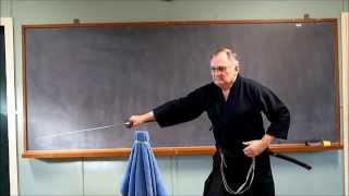 Amazing SAMURAI sword-cutting skills 2(3): slicing a pencil thin green-bean in half.