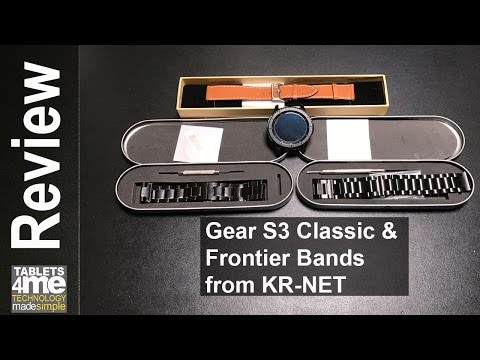 Samsung Gear S3 Classic and Frontier Bands and Screen Protector from KR-NET