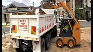 Dial A Digger Pool Excavation Dingo Bobcat Excavator Earthmoving and Trenching Contractor Hire