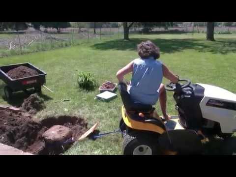 Hillbilly Rock garden removal funny adventure Battle Creek, MI