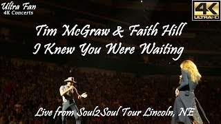 Tim McGraw & Faith Hill - I Knew You Were Waiting Live from Soul2Soul Lincoln, NE