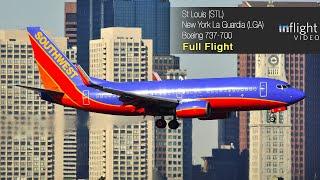 Southwest Airlines Full Flight: St Louis to New York LaGuardia - Boeing 737-700