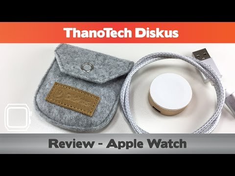 Thanotech Diskus Review - Portable Apple Watch Charger